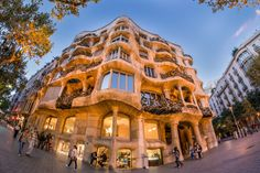 La Pedrera is another of #Gaudí's creations and is the 2nd most visited of the #museums in Barcelona after the #SagradaFamilia. La Pedrera has to be one of the most unusual apartment building's ever built. Today #LaPedrera is one of the most important #museums in #Barcelona and also houses renaissance #drawings and a collection of #modern #art #paintings.