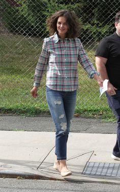 Katie Holmes 'All We Had' filming in Downtown Brooklyn