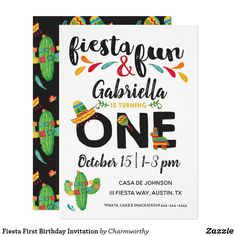 Fiesta First Birthday Invitation Through a fiesta for your little ones first birthday! Fun birthday party invites - customize your invitations or products. 1st Birthday Party Invitations, Boy Birthday Parties, Girl Birthday, Birthday Gifts, Happy Birthday, Twin First Birthday, Twins 1st Birthdays, Printable Invitations, Invites