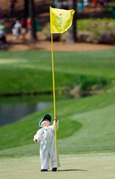 Scott Stallings's son. How cute! Teach your kids everything they need to know on the green at http://www.reunionwest.com/en/
