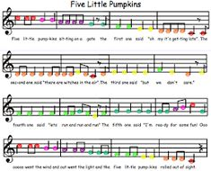 Elementary Music Resources: Five Little Pumpkins for Boomwhackers