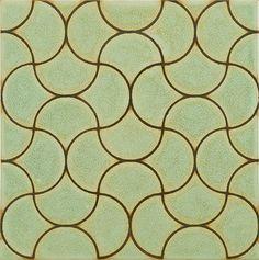 Interlaced Birds in celadon, Ann Sacks tile