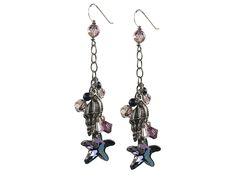 Purple Seaside Earrings