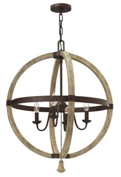 The Middlefield 4 Light Chandelier by Hinkley Lighting, partnered with Elstead Lighting, is available from Luxury Lighting. The Hinkley Middlefield 4 light ceiling light is in a Distressed Wood and Steel finish.