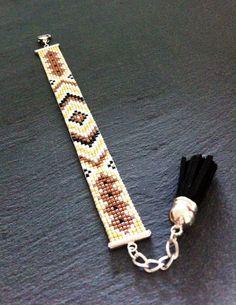 Bracelet Manchette Motif brésilien par TDFTheDreamFactory, €20.00 perles de rocaille miyuki