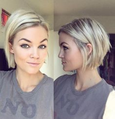 Blonde Chin-Length Bob Brittany's choice for her haircut 10/4/16