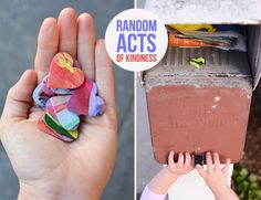 Random Acts of Kindness. Make someone feel special today with this simple art project for kids. Kindness Projects, Kindness Activities, Activities For Kids, Easy Art Projects, Projects For Kids, Crafts For Kids, Valentine Day Crafts, Valentines, Mindfulness Art