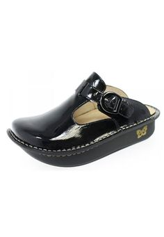 Alegria nursing clogs. These are the only shoes that I wear ! They get me through my 12 hour shifts without my feet and back killing me! Love these shoes!