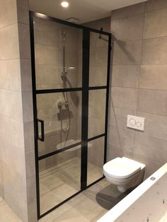 Bathroom Inspo, Bathroom Inspiration, Bathroom Interior, Bathroom Toilets, Small Bathroom, Industrial Bathroom Design, Laundry Room Design, Scrabble Tile Wall Art, Beautiful Bathrooms