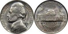 Jefferson Nickel-Type 1 Nickel Planchet, 1938-1942