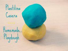 Montessori en Casa: Plastilina Casera - Homemade playdough