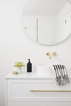 LITTLE WILLOW — Adore Home Magazine Bathroom Renos, Bathroom Interior, Bathroom Ideas, Master Bathrooms, White Bathroom, Bathroom Storage, Small Bathroom, Royal Oak Floors, West Elm Dining Table