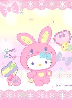 Easter Wallpaper, Sanrio Wallpaper, Holiday Wallpaper, Hello Kitty Wallpaper, Kawaii Wallpaper, Colorful Wallpaper, Cool Wallpaper, Kawaii Doll, Kawaii Cute