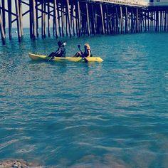 Ocean kayaking. #ocean #kayak #malibupier