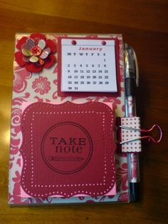 aok's paper stuff and more: Acrylic Post-it holders with calendar
