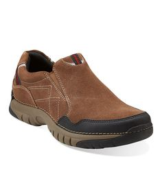 Take a look at this Brown Suede Roebling Twin Slip-On Shoe - Men on zulily today!
