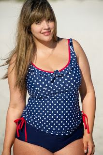 Plus size swimwear State of Mind Active 01865 Blue spotted tankini. Sizes from Designed for confidence, style and comfort for larger women. Look Plus Size, Curvy Plus Size, Plus Size Girls, Plus Size Women, Plus Size Bade, Ropa Interior Boxers, Molliges Model, Plus Size Kleidung, Plus Size Swimsuits