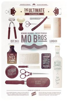 the ultimate men's grooming kit, mo bros, Graphic Design, creative, visual, inspiration, movemeber,