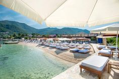 Check out our Guide to the Best Beach Clubs in Montenegro - featuring beach clubs on the Budva Riviera, the Bay of Kotor and the Lustica Peninsula. Tivat Montenegro, Les Balkans, Luxury Condo, Fjord, Waikiki Beach, Parc National, Beautiful Sunrise, Luxury Yachts, Beach Holiday