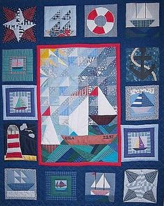 Nautical Quilt | Patchwork, Craft and Boy quilts : nautical patchwork quilt - Adamdwight.com