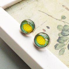 $3.74 Handmade jewelry cute cartoon yellow bees | Crystal gem earrings | earrings | ear clip-ZZKKO