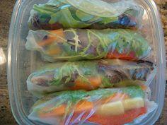 Fresh Vegan Spring Rolls & Peanut Sauce Recipe