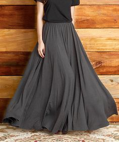 Charcoal Maxi Skirt by Reborn Collection #zulily #zulilyfinds