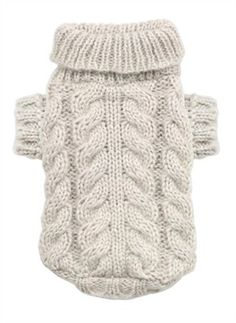 Angora Cable Knit Dog Sweater