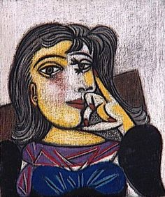 Portrait of Dora Maar, 1937 by Pablo Picasso use for 2 view point example in 1 single image Pablo Picasso, Dora Maar Picasso, Kunst Picasso, Art Picasso, Picasso Paintings, Picasso Sketches, Georges Braque, Most Famous Paintings, Famous Artists