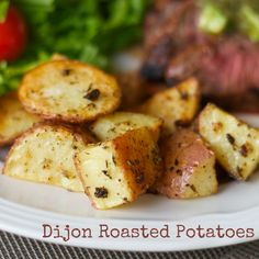 Dijon Roasted Potatoes - the Dijon mustard provides a slight tang that really kicks these potatoes to the next level! These are a family favorite at our house!