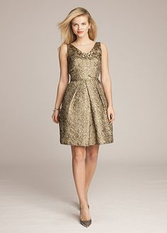 MOTB - Jacquard V-Neck Fit & Flare Dress