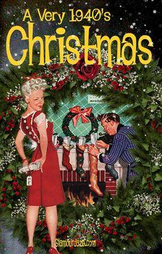 Image detail for -Glamour Daze: Free Printable Vintage Christmas Card