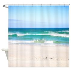 Beach Waves Shower Curtains From Store Enhance Your Bathroom Decor Or Give