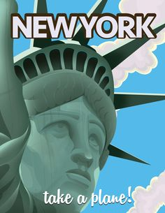 New York Statue of Liberty Travel poster Art Print