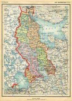 Karelian A.S.S.R., 1928. Source: Atlas of the USSR