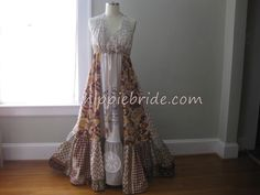 Prairie Wedding Dress, Rustic Wedding Dress, Patchwork Wedding Dress, Unique Wedding Dress, Country Wedding dress Western Wedding Dresses, Boho Wedding Dress, Wedding Gowns, Hippie Bride, Altered Couture, Unique Weddings, Upcycle, Etsy, Romance