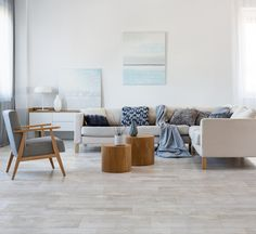 Dreaming of a beautiful wooden floor for your home? Bring the warmth of natural wood into your home with the easy cleaning of a tile. The trick here is that long tiles have a slight bow in them, so be sure to install with a 30% offset in the pattern, much like a real wood floor.   #dreamhome #homedecor #makeithappen #woodlook #woodtiles #largeformattiles #homegoals #trendyhome Real Wood Floors, Wooden Flooring, Wood Look Tile, Amazing Spaces, Trendy Home, Plank, Natural Wood, Design Trends, Larger