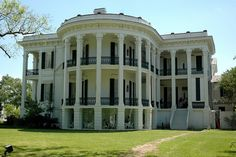 Nottoway Plantation, built in 1859, with 53,000 square feet, 64 rooms, and 6 interior staircases...