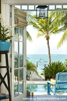 Sunset Key Florida Home with Views Dreams are Made of! Take the tour here: http://beachblissliving.com/classic-florida-style-key-west-interiors-by-taylor-taylor/