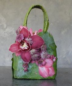 My friend Saundra Parks Floral Handbags... Daily Blossom NYC