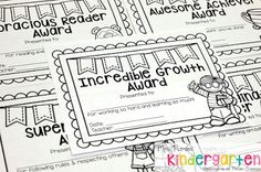That's A Wrap! Student Awards for the End of the Year {FREEBIE} - Mrs. Plemons' Kindergarten