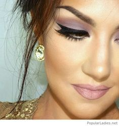 Purple and black makeup idea