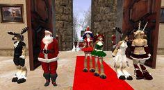 Santa arrives at the Ball 2014 Second Life, Santa