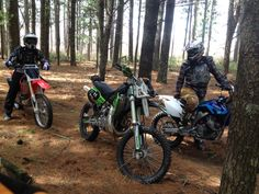 Out to clear trails on my KX500 with the chainsaw in Huntersville state forest Minnesota.