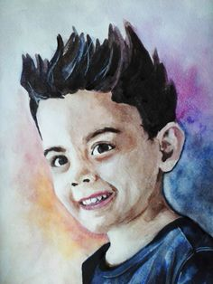 Сыночек. Акварель. Формат А3. #kid #thewatercolordrawing #drawing #portrait #art #artist #painter #Iamanartist #watercolor #boy Son. Watercolor. A3.