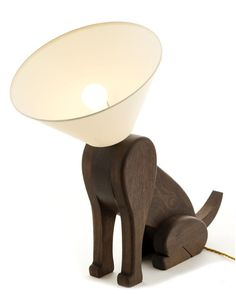 Who's a clever boy? Pet themed lamps are all over the internet right now, but this one stood out, as it appears to be a really good quality product, with a very clever design. Made from dark cherry wood, it is inspired by the maker's own pet terrier, Sampson. You can buy it for about £120 from : www.mattpugh.co.uk