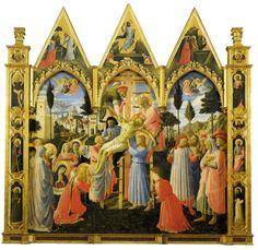 Fra Angelico, La Descente de Croix, 1432-1434, tempera sur bois, 176 x 185 cm (musée du Couvent San Marco, Florence, Italie)