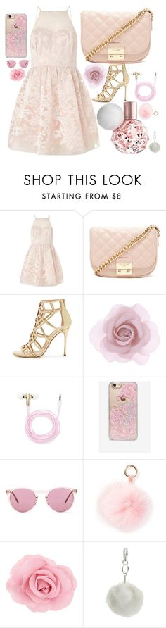 """Honeymoon Avenue"" by moonlighttetra ❤ liked on Polyvore featuring Lipsy, Forever 21, Sergio Rossi, Accessorize, Skinnydip, Oliver Peoples, RAJ and Miss Selfridge"