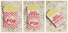 Pop Up About To POP popcorn DIY Printable Baby Shower Invitation