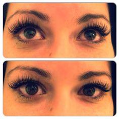 A beautiful set of eyelash extensions by Dreamlash Academy Educator Dalayne Hauser